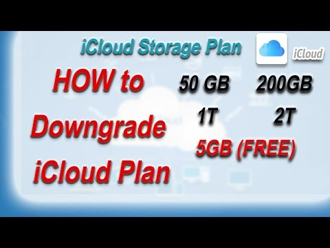 How to downgrade your iCloud Storage Plan
