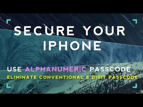 How to Secure iphone || Alternative to 6 digit passcode !