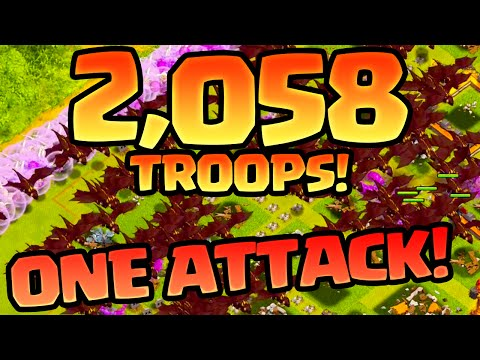 Clash of Clans Developer Raids - 2,058 Troops in One Raid! CoC