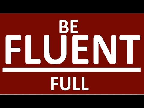 BE FLUENT FAST - FULL COURSE. How to learn English speaking easily. English speaking practice