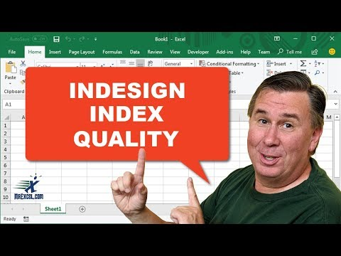 Learn Excel - InDesign Index Quality -  Podcast 2186a