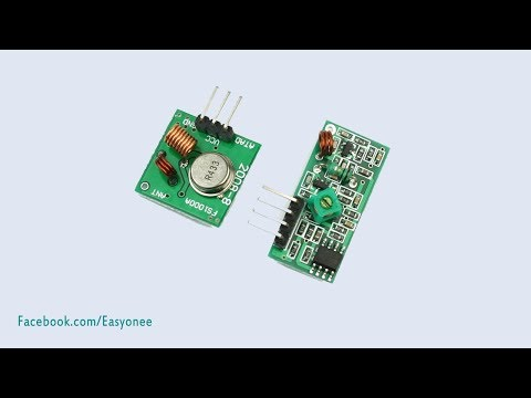 How To Make  Wireless RF 433Mhz Transmitter And Receiver Test