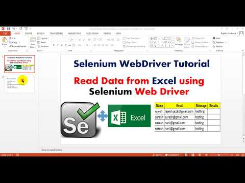 Selenium 3 8 Tutorials | How to Read Data from Excel using Selenium WebDriver