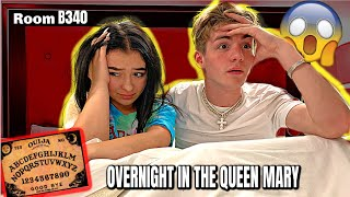 OVERNIGHT IN THE QUEEN MARY ROOM B340 *scariest night ever*