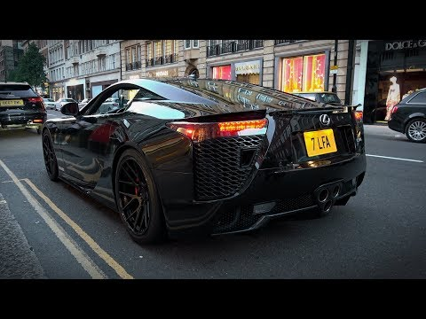 Lexus LFA crazy V10 exhaust sounds in Central London
