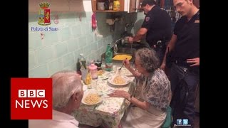 The Italian cops who came for dinner - BBC News