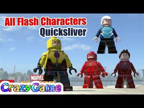 All Flash Characters vs Quicksliver Free Roam - LEGO Marvel Super Heroes MOD