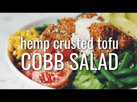 HEMP CRUSTED TOFU COBB SALAD (VEGAN) | hot for food
