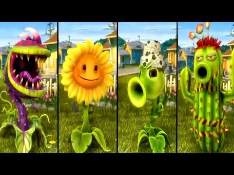 Plants vs Zombies Garden Warfare - All Plants Unlocked / All Characters