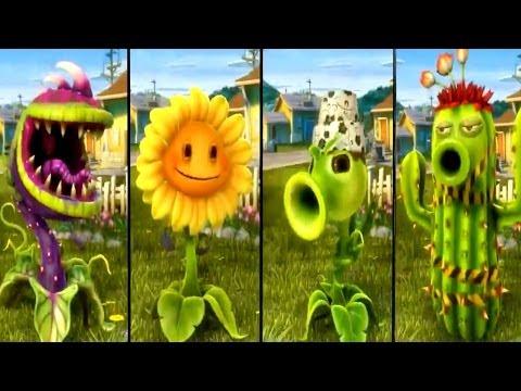 Plants vs Zombies Garden Warfare - All Plants Unlocked / All Characters