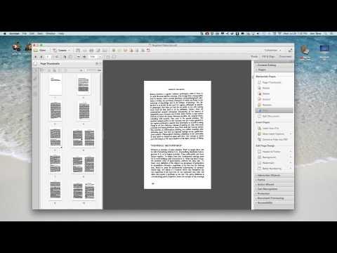 Splitting Pages using Adobe Acrobat Pro XI
