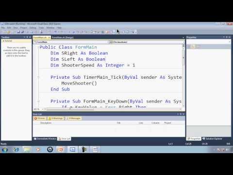 Visual Basic Express 2010 Tutorial 34 Programming The Shooter Part 3 Game