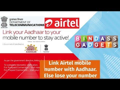 Airtel Aadhaar Link - Link Airtel SIM with Aadhar Step by Step Process