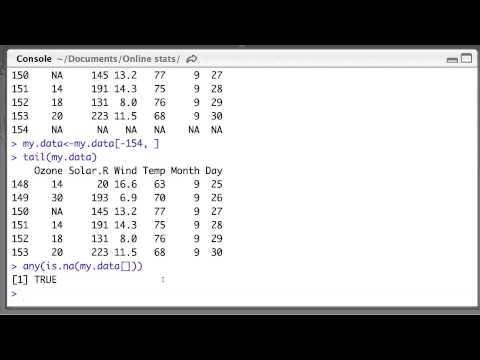 Removing NAs in R dataframes