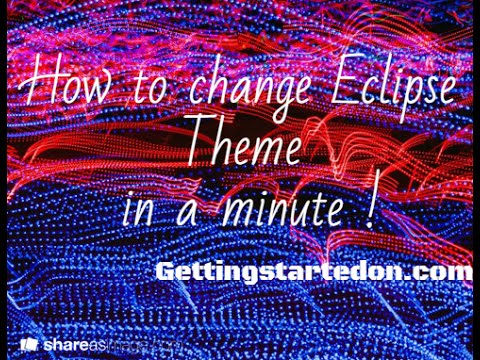How to change Eclipse theme or Background color | Eclipse Dark Theme | Eclipse Dark Color