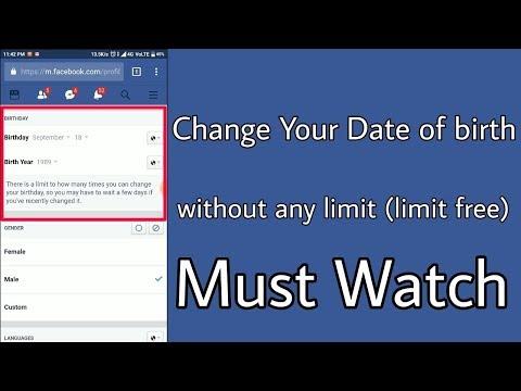facebook date of birth change | fb dob change after limit