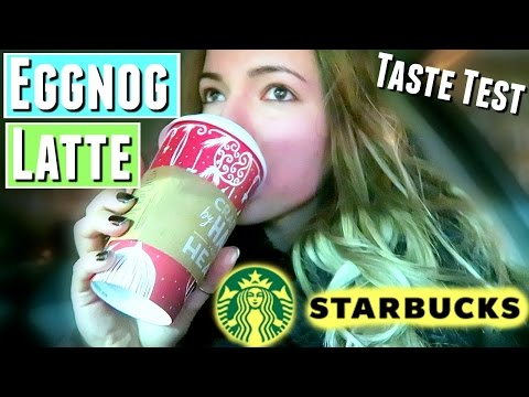 TASTE TESTING STARBUCKS EGGNOG LATTE, eggnog latte taste test and review