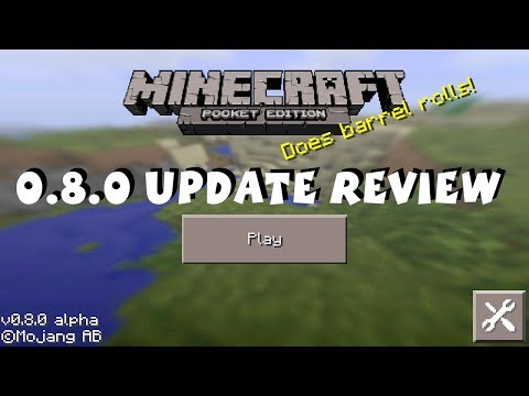 Minecraft Pocket Edition 0.8.0 Update Review iOS Android Kindle Fire HD