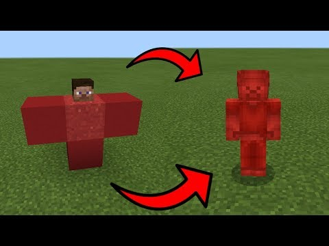 How To Spawn RED STEVE in Minecraft PE