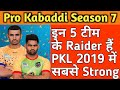 Top 5 Best Raiding Side Teams In PKL 7 Sports Academy