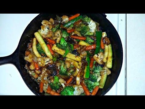 Cast Iron Cooking Teriyaki Vegetable Stir Fry Recipe