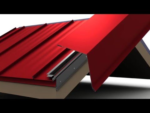 How to Install Standing Seam Metal Roofing - Box Rake Trim.