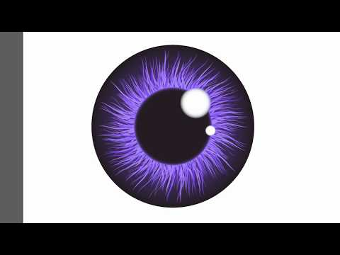 Eye iris pupil - Adobe Illustrator cs6 tutorial. How to draw nice vector illustration.