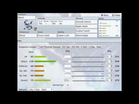 Pokemon Showdown- Moveset Video~ Mega-Absol (Pokemon X & Y)