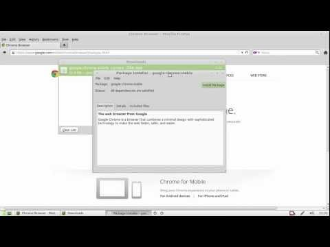 How to install Chrome in Linux Mint 14