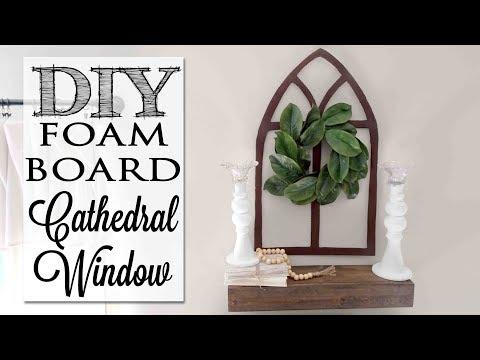 DIY Cathedral Window from Foam Board
