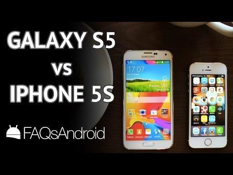 Samsung Galaxy S5 vs iPhone 5S: comparativa en vídeo HD | FAQsAndroid.com