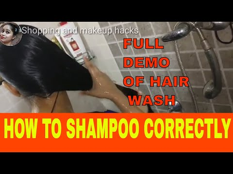 How to shampoo & condition hair correctly for better hair growth I full dempo of hair wash in hindi