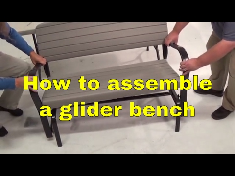 Lifetime 2871 Rocking Glider 4' Bench Assembly