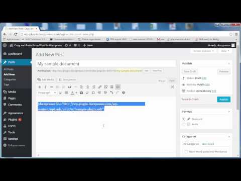 How to copy and paste content from Word to Wordpress - Step by step
