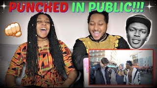 "KSI ""GETTING PUNCHED IN PUBLIC!!!"" REACTION!!"