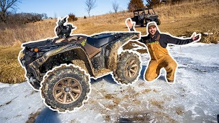 I Bought a GIANT ATV for My BACKYARD FARM!!! (He Fell Off)