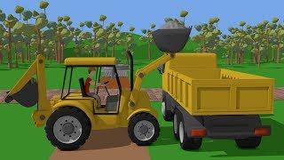 #Truck and Mini #Excavator with Hydraulic Hammer | Street Vehicles for Baby | Maszyny Budowlane Kids