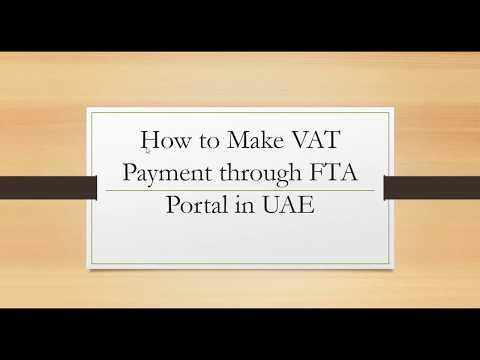 How to Make VAT Payments through FTA Portal