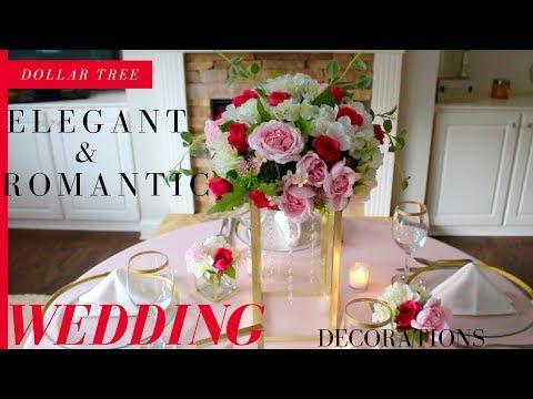 DIY ELEGANT & ROMANTIC WEDDING DECORATIONS | DOLLAR TREE WEDDING DECORATIONS