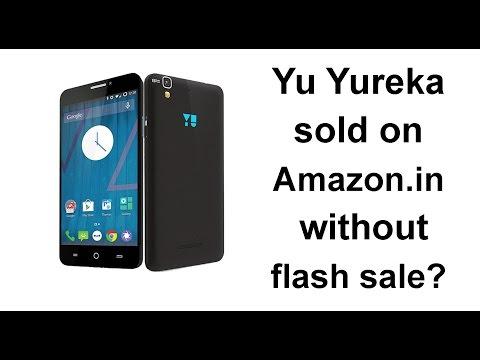 Amazon India selling Yu Yureka secretly outside flash sale