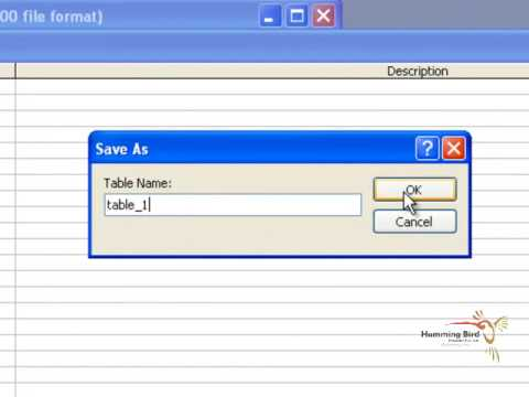 CHAPTER 2   CREATE TABLE IN MS ACCESS 2003 HINDI