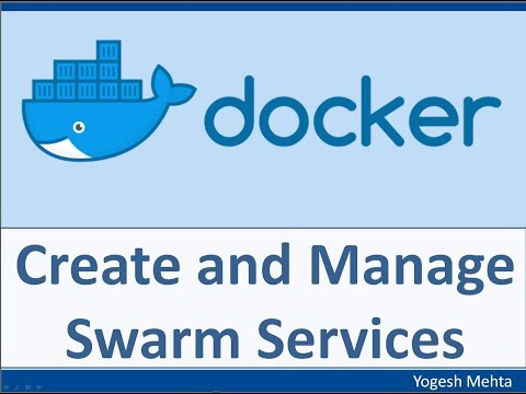 Docker Swarm | Create and Manage SWARM Services