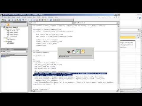 Send Outlook E-mail from VBA Excel with HTML Tags (Video 4 of 4)