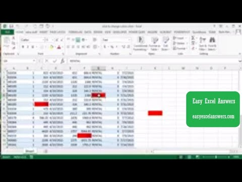 Click to change the cell  colour in Excel