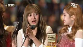 Download TWICE - DAESANG 'Song Of The Year' 161202 @MAMA 2016 Video