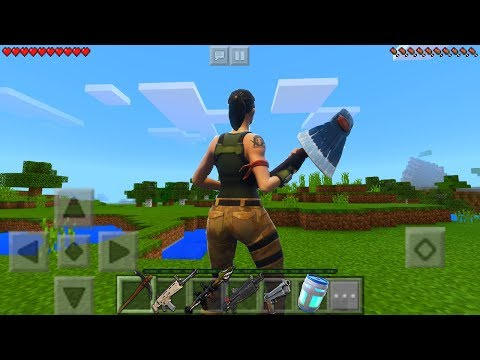 PLAYING FORTNITE IN MINECRAFT!