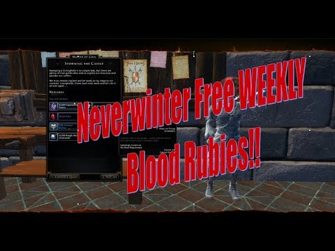 Neverwinter Learn How To Get Your Free Blood Rubies!!