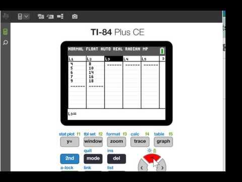 Sum of the residuals squared TI-83 or Ti-84