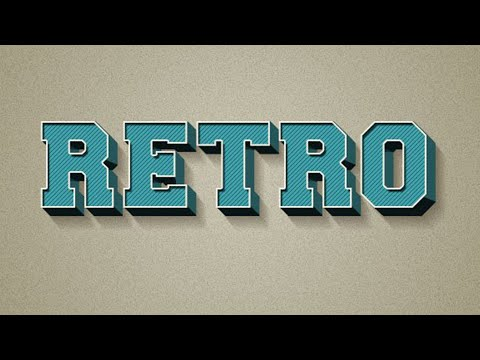 RETRO Text Effect in Photoshop CC | Photoshop Text Effects Tutorial