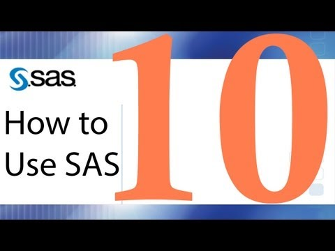 How to Use SAS - Lesson 10 - Parametric and Non-parametric Correlation